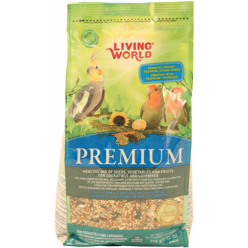 Hagen Living World Lovebird & Cockatiel Premium Seed Food - 908g