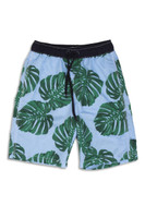 Blue Botanical Swim Shorts