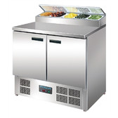 Polar 2 Door Salad and Pizza Prep Counter Stainless Steel