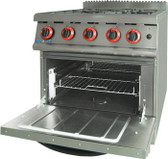 GASMAX Natural Gas Four Burner Top On Oven JZH-RP-4(R)