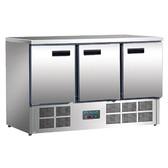 Polar 3 Door Counter Fridge 363Ltr Stainless Steel