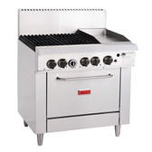 Thor 4 Burner Natural Gas Oven and 305mm Grill