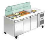 THP3100SALGC Three Door DELUXE Salad Bar
