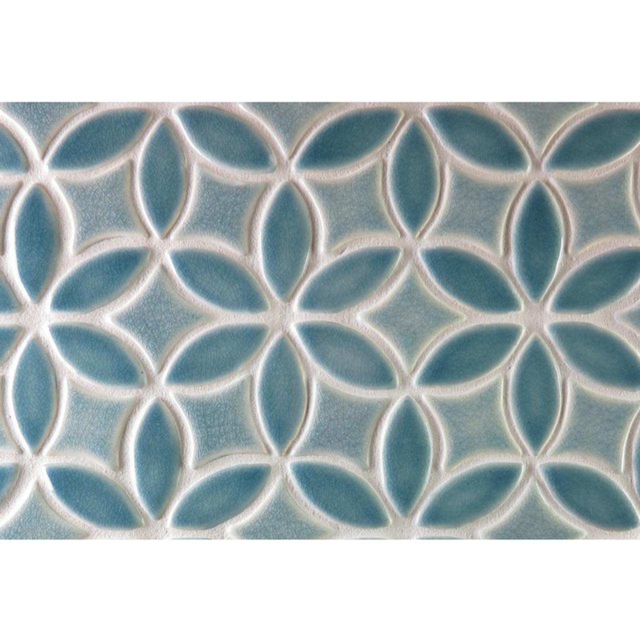 Two-Color Bloom Handmade Tile Border - Julep Tile Company
