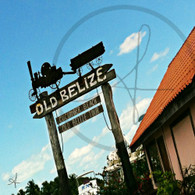 Old Belize Wooden Sign