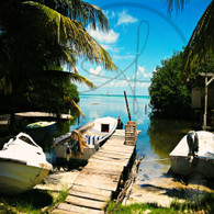 Caye Caulker Picturesque Dock
