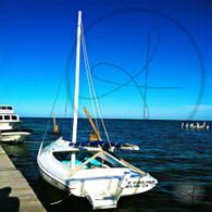 Caye Caulker Sailboat at Dock