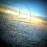 Sunset from Munich Airplane