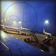 Airplanes at Budapest Airport