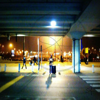 Outside Budapest Airport
