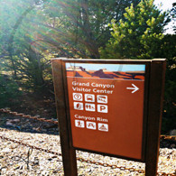 Grand Canyon Visitor Center Sign