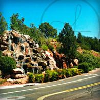 Sedona Cliff Waterfall