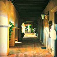 Tlaquepaque Lighted Patio Hallway