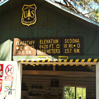 National Forest Elevation Signs