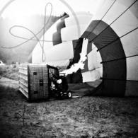 Firing Up Balloon BW
