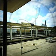 Burlington Station Amtrak Sign