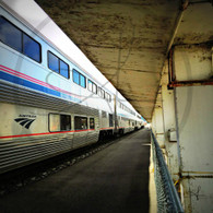 Burlington Station Amtrak on Tracks