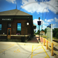 Macomb Station and Sign