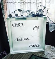 Cheer Joy Glass Block