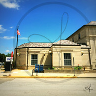 Macomb Post Office and Flag