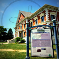 Macomb Courthouse and Sign