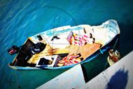 Bahamas Conch Boat 8x10