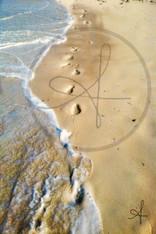 Bahamas Footprints in Sand 11x14