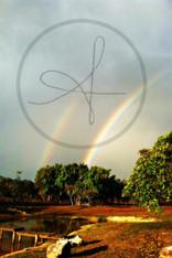 Belize Double Rainbow 11x14