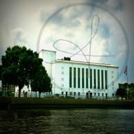 Memorial Auditorium from River