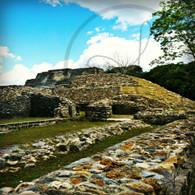 Altun Ha Large Stone Wall