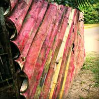 Belize Howler Monkey Bamboo Gate
