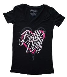 Pink Dirty Heart Women's V-Neck