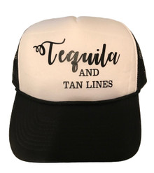 Tequila and Tan Lines Style Round Bill Snapback Hat