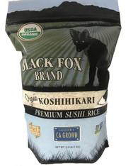 Black Fox Organic Premium White Koshihikari Rice (2.2 lb bag)
