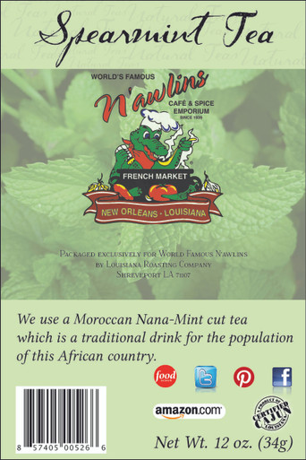 Spearmint Tea from World Famous N'awlins Cafe and Spice Emporium