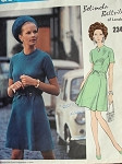 1960s BELINDA BELLVILLE A Line Dress Pattern Vogue Couturier Design 2345 Lovely Day or Cocktail Dress  Bust 32.5 Vintage Sewing Pattern UNCUT