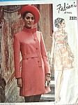 1970 Stunning  FABIANI  Dress Pattern  VOGUE COUTURIER DESIGN 2325 Side Front Closing Bust 34 Vintage Sewing Pattern