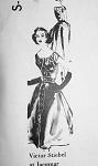 1950s DRAMATIC EVENING DRESS PATTERN FLATTERING DRAPED BODICE, FITTED CORSET WAIST, BEAUTIFUL and UNIQUE, SPADEA INTERNATIONAL DESIGNER PATTERNS 367