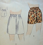 1950s MENS BOXER SHORTS or  SWIMMING TRUNKS SEWING PATTERN WITH or wITHOUT FLY FRONT, EASY TO MAKE VOGUE PATTERNS 7090