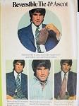 1970s GENTLEMENS REVERSIBLE TIE, ASCOT PATTERN VERY WARREN BEATTY STYLE McCALLS 3434