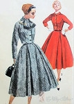 1950s Graceful 2 Pc Suit Vintage Sewing Pattern Simplicity 1762 Short Fitted Jacket, Nipped In Waist, Full Skirt Inverted Pleats Lovely Style Features Bust 32