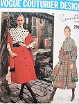 1970 Romantic Simonetta Midi Skirt, Blouse and Shawl Stole Pattern Interesting Side Button Skirt , Victorian High Neck Blouse With Scarf Vogue Couturier Design 2380 Vintage Sewing Pattern Bust 34