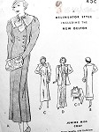 1930s Art Deco Slim Coat Pattern Side Closing, in 3 Lengths, 2 Lovely Sleeve Styles, Detachable Collar Butterick 6064 Vintage Sewing Pattern Bust 30
