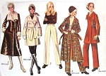 1970s Wrap or Side Closing Coat Pattern Mini Midi Princess Seams Empire Waist Lined Coats and Jackets Plus Straight Leg Pants Simplicity 9026 Vintage Sewing Pattern UNCUT Bust 32