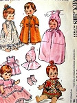 1960s Doll Clothes Pattern McCalls 6993 Vintage Sewing Pattern Baby and Toddler Doll Sizes 12 to 15 Inches Dolls Wardrobe and Tote Fits Baby Pebbles, Pebbles, My Baby, Baby Cupcake, Babykin, Tiny Tubber, Baby Buttercup, Littlest Angel, Lil Susan, Tee