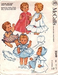 1950s McCalls 2349 Vintage Sewing Pattern 8-9 Inch Doll Clothes for Toodles, Ginette, Gigi's Li'l Sister, Tiny Tears, Betsy Wetsy and Dydee Baby Dolls UNCUT FACTORY FOLDED