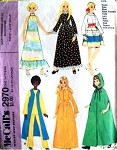 1970s McCalls 2970 Doll Clothes Vintage Sewing Pattern Doll Clothing Wardrobe For 5-6.5 Inch Fashion Dolls : Dawn, Dale, Rock Flowers, Kim and Tutti UNCUT FACTORY FOLDED.