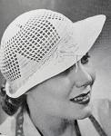 1930s Art Deco Flirty Crocheted Brimmed Lacey Hat INSTANT PDF PATTERN Vintage Crochet Pattern Knitting Pattern