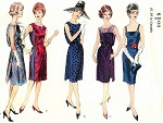 1960s Cocktail Evening Dress Pattern Slim Camisole Top Dress With Tunic Stunning Effect Mad Men Era Vogue 5427 Vintage Sewing Pattern Bust 36