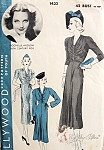 Late 1930s Gorgeous Dress Pattern Hollywood 1432 Vintage Sewing Pattern Featuring Rochelle Hudson Movie Star Flattering Shirred Bodice Choice of 3 Sleeve Styles Bust 42